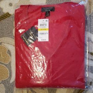 Charter Club Luxury 100% Cashmere LS  Sweater sz M